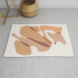 Body abstract illustration Rug
