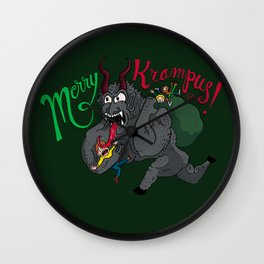 Merry Krampus! Wall Clock
