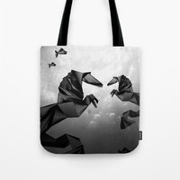 sea horse Tote Bags featuring Sea Horse by JPeG