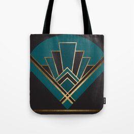 Art Deco New Yesterday In Teal Tote Bag