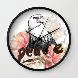 Peace Wreath Wall Clock