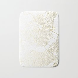 Wilkes-Barre Gold and White Map Bath Mat