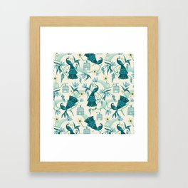 Aviary - Cream Framed Art Print