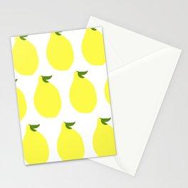 Simple Yellow Lemon Pattern Stationery Cards