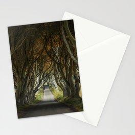 Dark Hedges alley in northern Ireland Stationery Cards