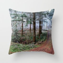 the red forest crossing Throw Pillow