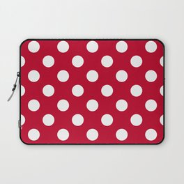 Red and Polka White Dots Laptop Sleeve