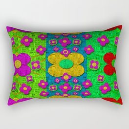 Big flower power to the people Rectangular Pillow