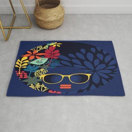 Afro Diva : Sophisticated Lady Blue Rug