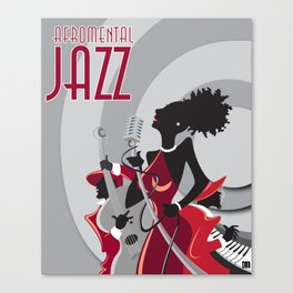 """AFROMENTAL JAZZ"" Canvas Print"