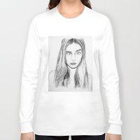 cara Long Sleeve T-shirts featuring Cara by Chris Watts Art