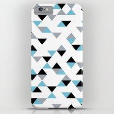 Triangles Ice Blue Slim Case iPhone 6 Plus