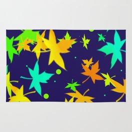 Forever Autumn Leaves Navy/Orange 6 Rug