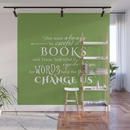Words Have the Power to Change - Tessa (Med Green) Wall Mural