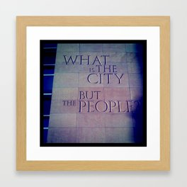 What is the City Framed Art Print