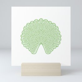 Symmetric Garden Geranium Leaf Illustration Mini Art Print