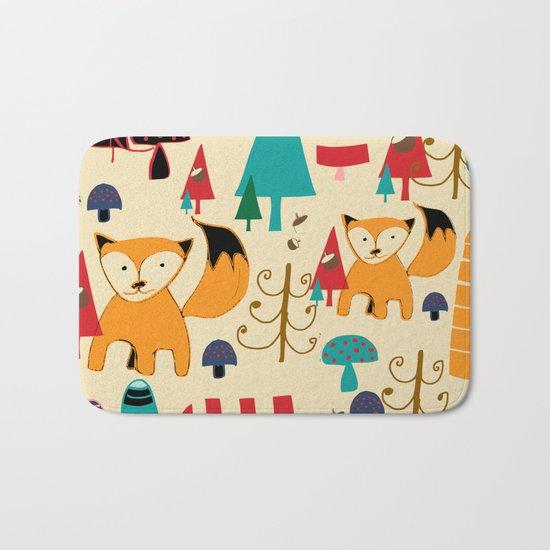 woodland fox Bath Mat