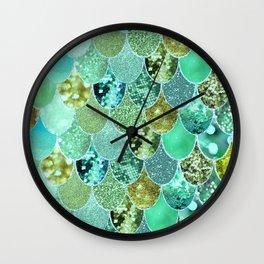 Mermaid Skin Shimmer Wall Clock