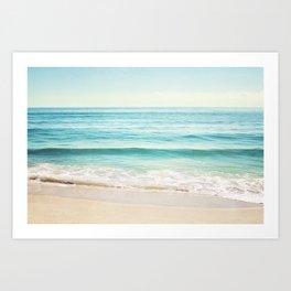 Ocean Seascape Photography, Aqua Beach Sea Landscape Art Print