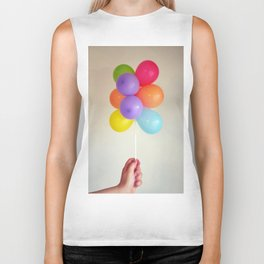 colourful balloons Biker Tank