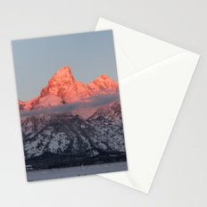 Glowing Pink Sunrise in Grand Teton National Park, Wyoming Stationery Cards