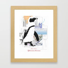 Natura Technica - African Penguin Framed Art Print