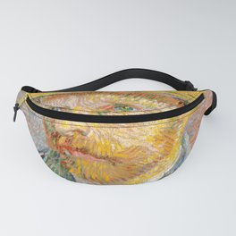 Self-Portrait with a Straw Hat - Vincent Van Gogh Fanny Pack