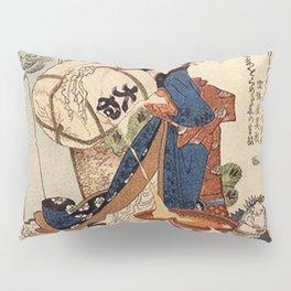 The Strong Oi Pouring Sake by Katsushika Hokusai Pillow Sham