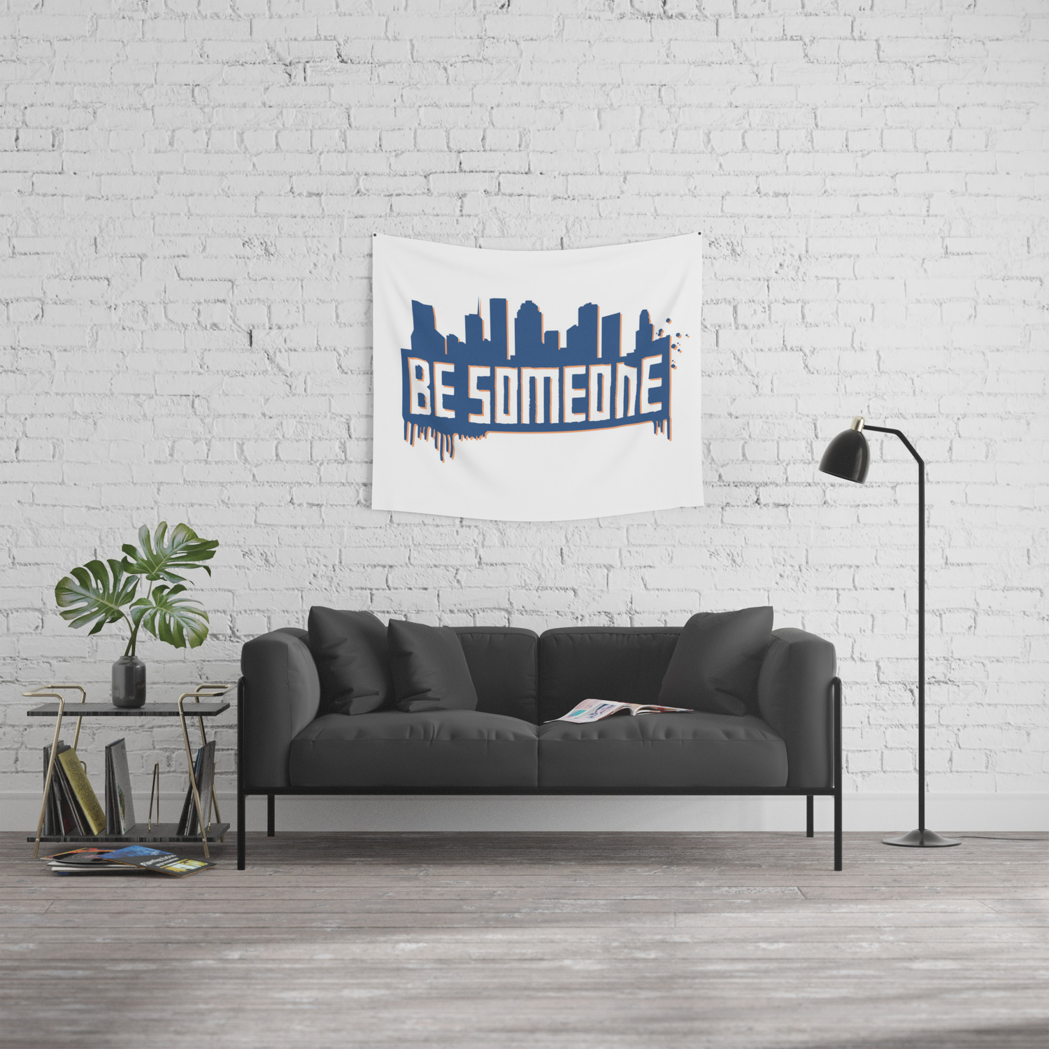 Be Someone - HTX - Navy Wall Tapestry
