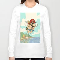 super mario Long Sleeve T-shirts featuring Super Mario! by Ismael Álvarez