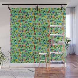 1960s Word Power Wall Mural