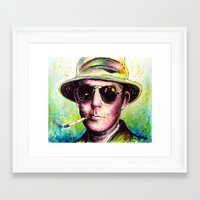 hunter s thompson Framed Art Prints featuring Hunter S Thompson by Chuck Hodi