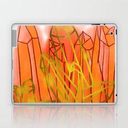 Crystals - Orange Laptop & iPad Skin