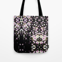 Cascading Pink Flowers Tote Bag