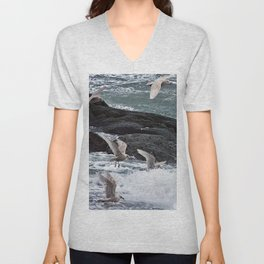 Gulls shop for Dinner Unisex V-Neck