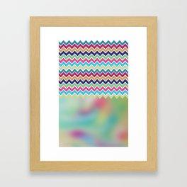 Milky Way Chevron Framed Art Print