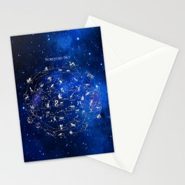 Northern Sky Constellations Map Stationery Cards