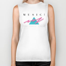 MUSIC EXCLAMATION POINT Biker Tank