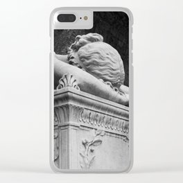 Mourning Angel Clear iPhone Case