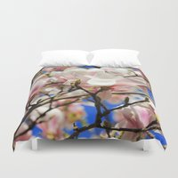 magnolia Duvet Covers featuring  Magnolia. by Assiyam