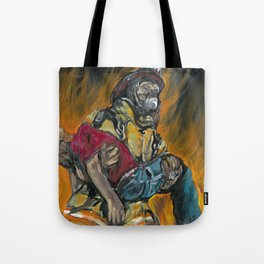 Fire Fighting. Tote Bag