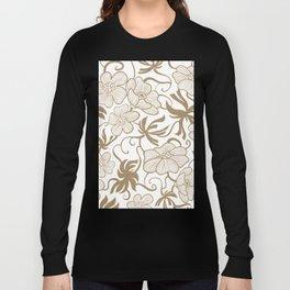 Paris 1927 - Retro Vintage Botanical Long Sleeve T-shirt