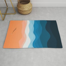 The Lone Surfer   Aerial Rug