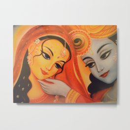 Man Lila (Radha and Krishna) Metal Print