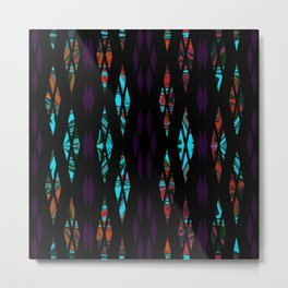 Purple Pattern Metal Print