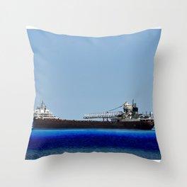 Freighter Throw Pillow