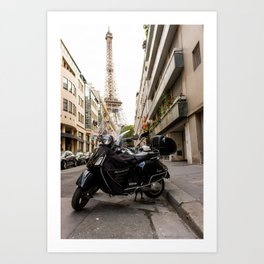 French Getaway Art Print