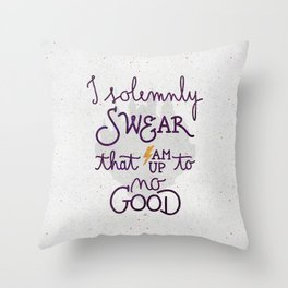 I am up to no good Throw Pillow