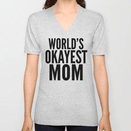 WORLD'S OKAYEST MOM (Lilac) Unisex V-Neck