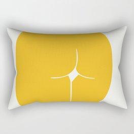 Yellow in nude Rectangular Pillow